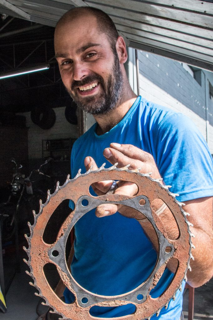 Tom's rear sprocket was due replacement