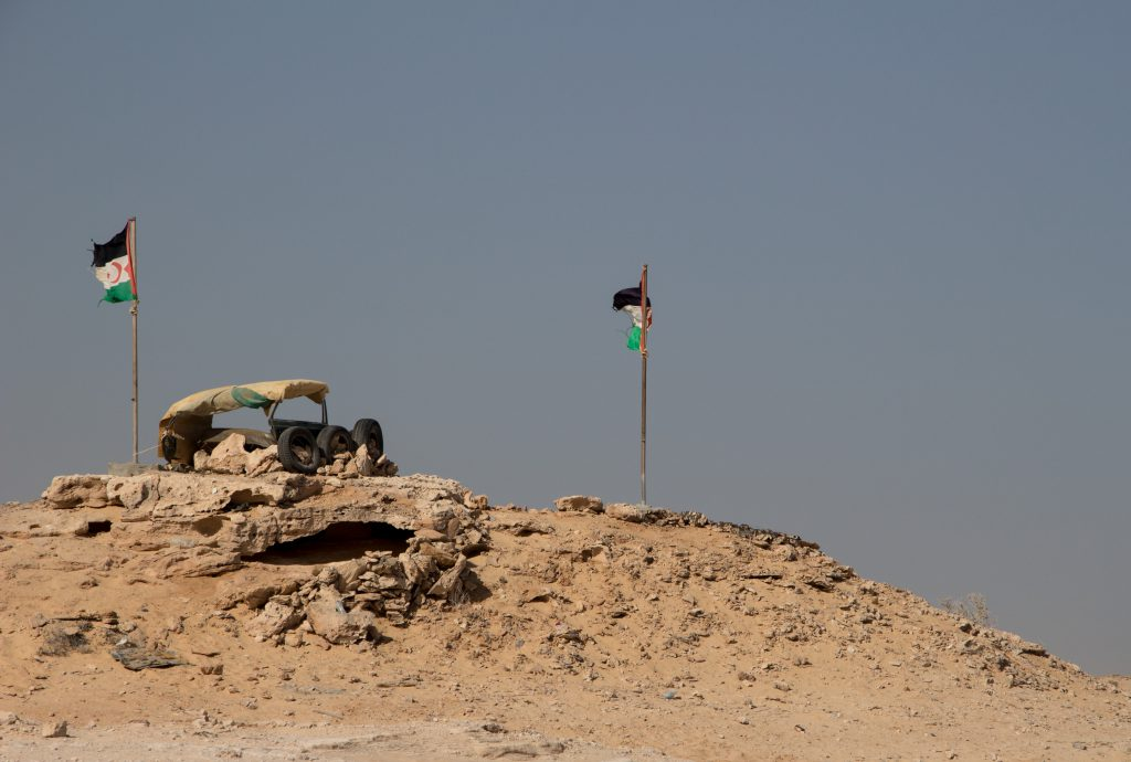 The Polisario now have a 'checkpoint' at the Mauri border