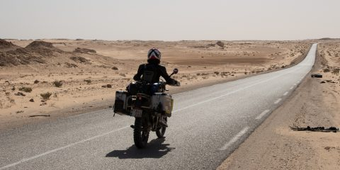 The road to Nouadhibou