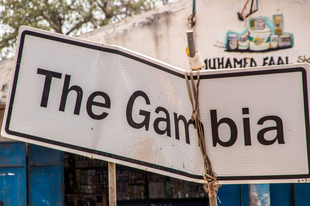 The Gambia, this roadsign was telling a lot about the country...