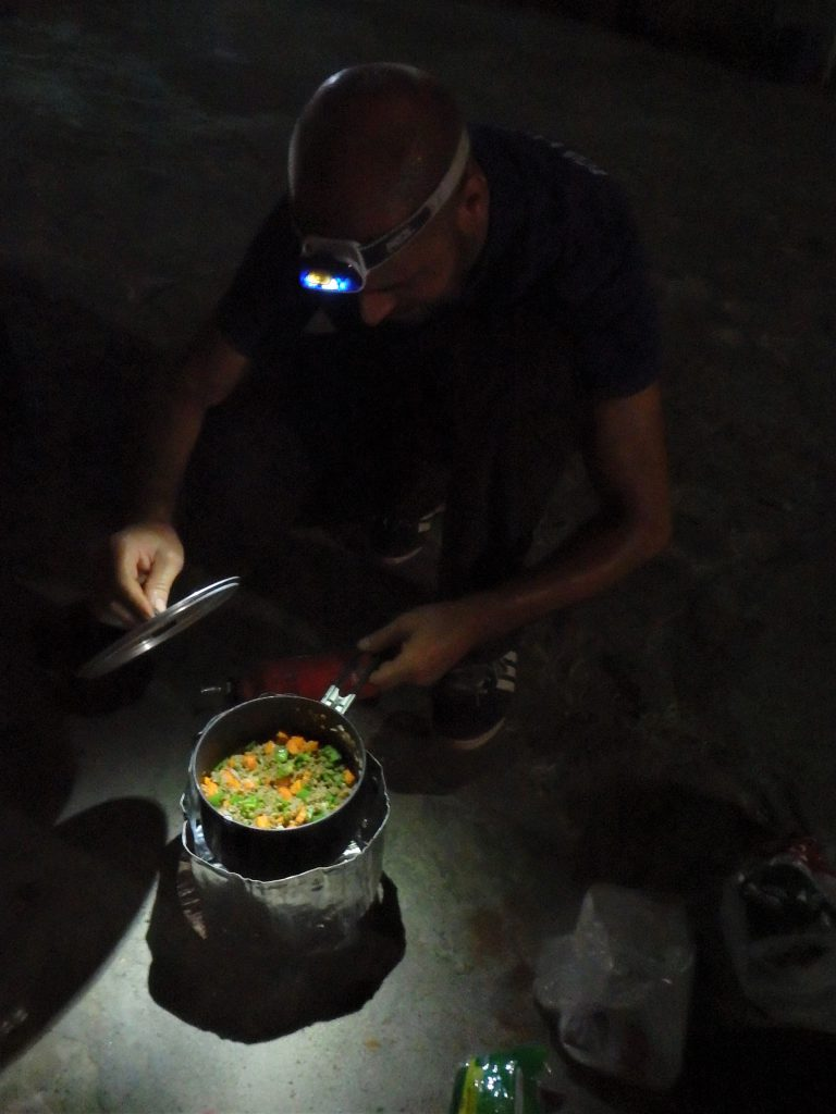 Outdoor cooking in Calabar