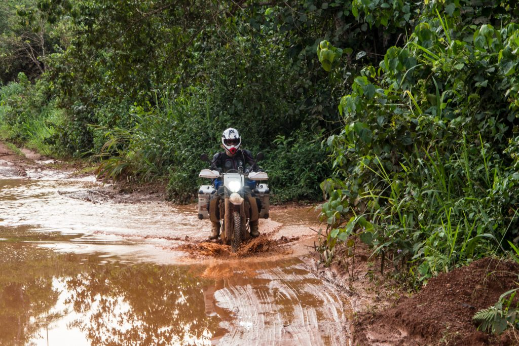 The road to Ebolowa: endless sections of mud