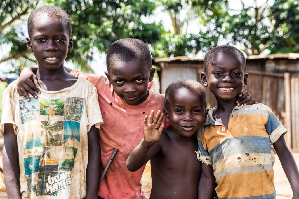 Congolese kids just across the border