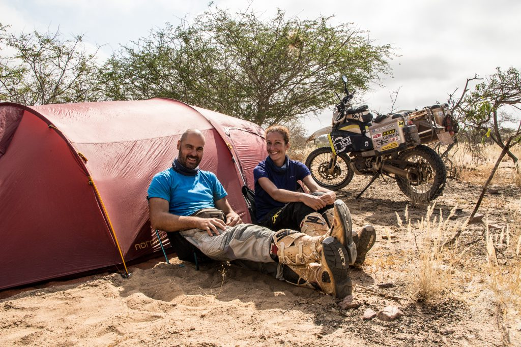 Wild camping on the track to Namibe