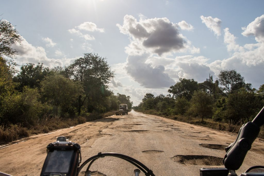 100's of kilometers of potholed roads